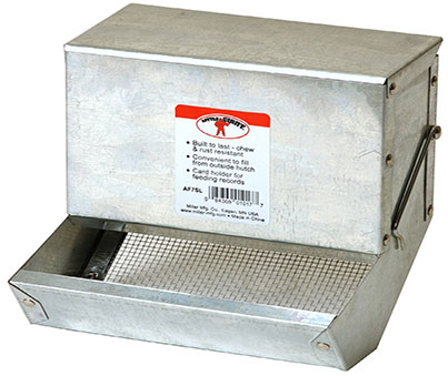 Miller Manufacturing Galvanized Rabbit Feeder