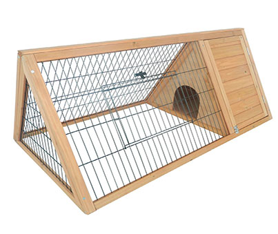 Pawhut Outdoor Rabbit Run With House