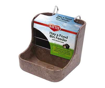 Hay N Food Bin Rabbit Feeder
