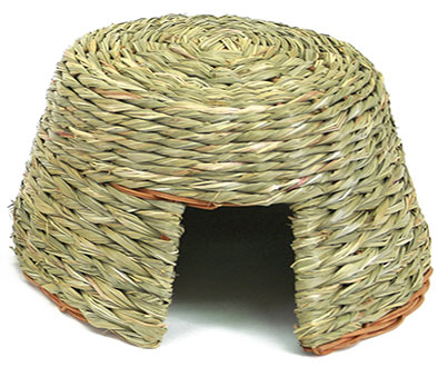 Natural Willow and Grass Rabbit Hut