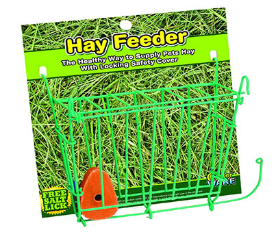 Hay Feeder with Salt Lick For Rabbits