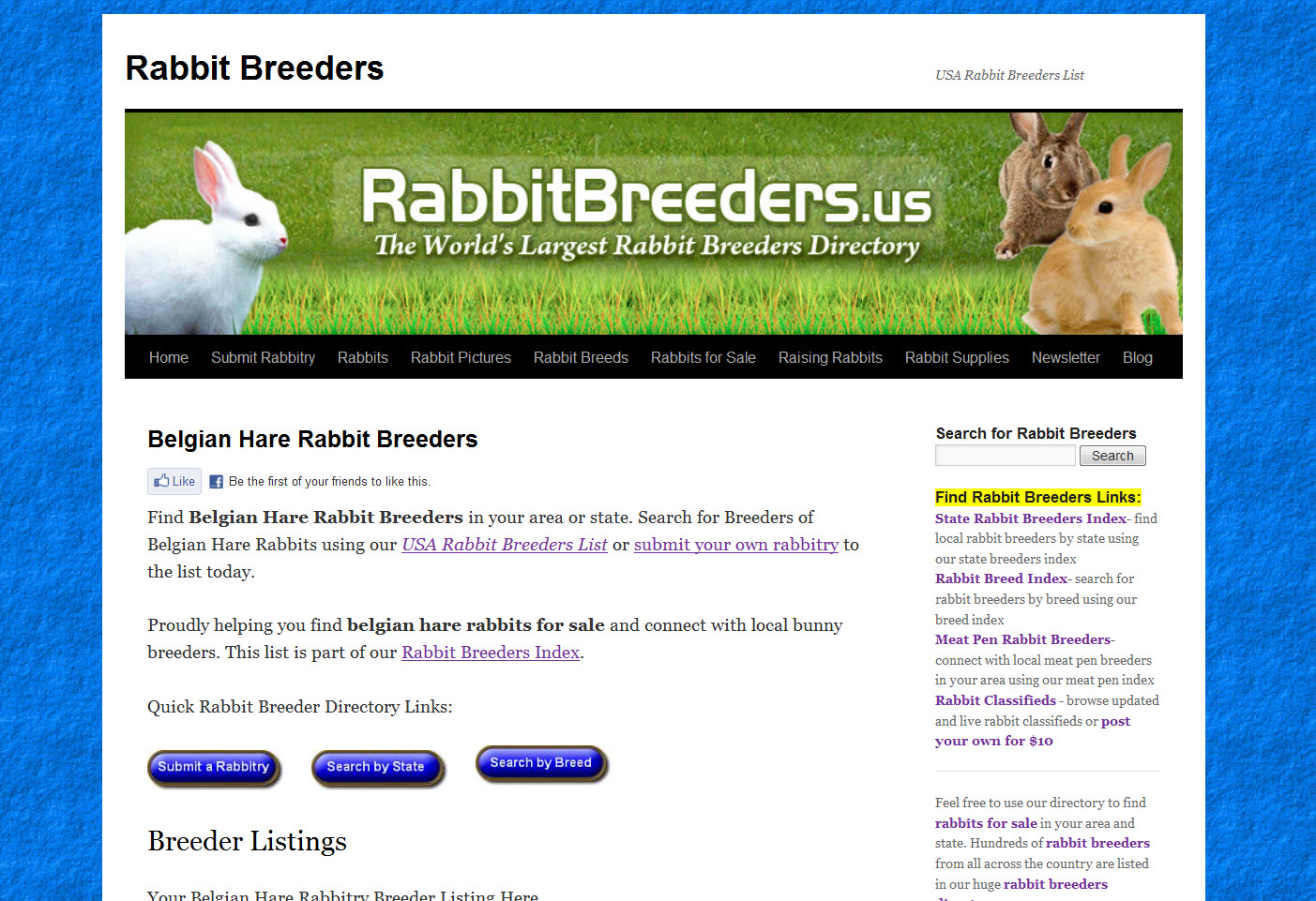 Belgian Hare Rabbit Breeders