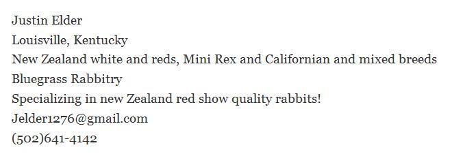Bluegrass Rabbitry