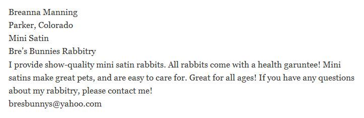 Bre's Bunnies Rabbitry