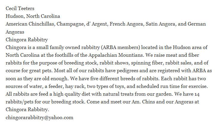 Chingora Rabbitry