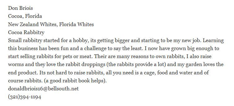 Cocoa Rabbitry