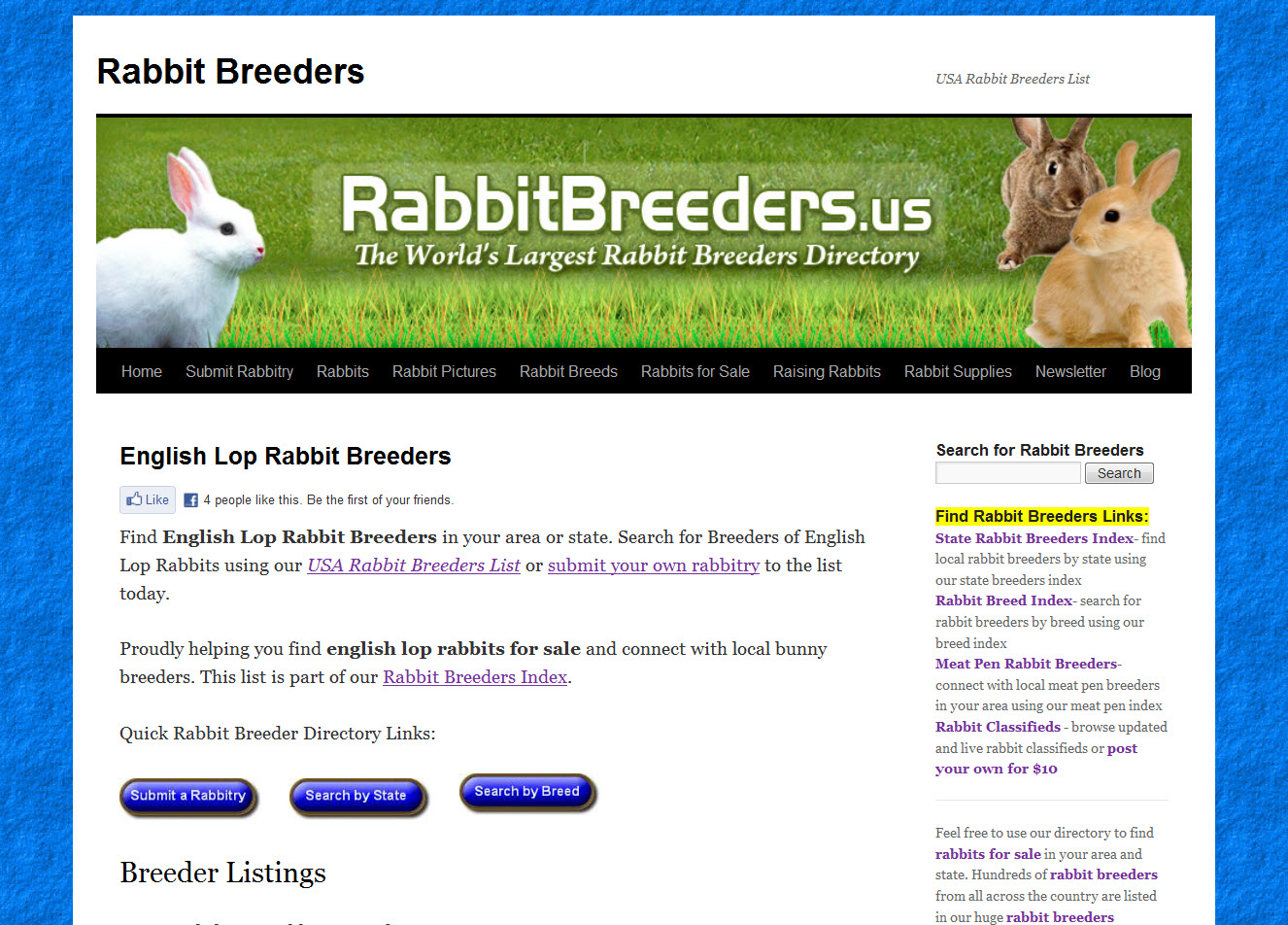English Lop Rabbit Breeders