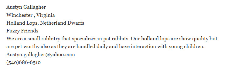 Fuzzy Friends Rabbitry