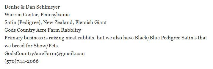Gods Country Acre Farm Rabbitry