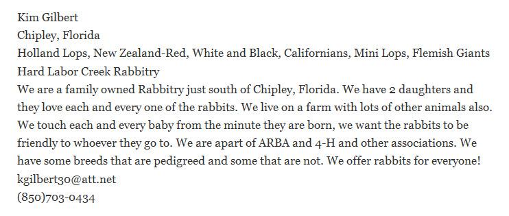 Hard Labor Creek Rabbitry