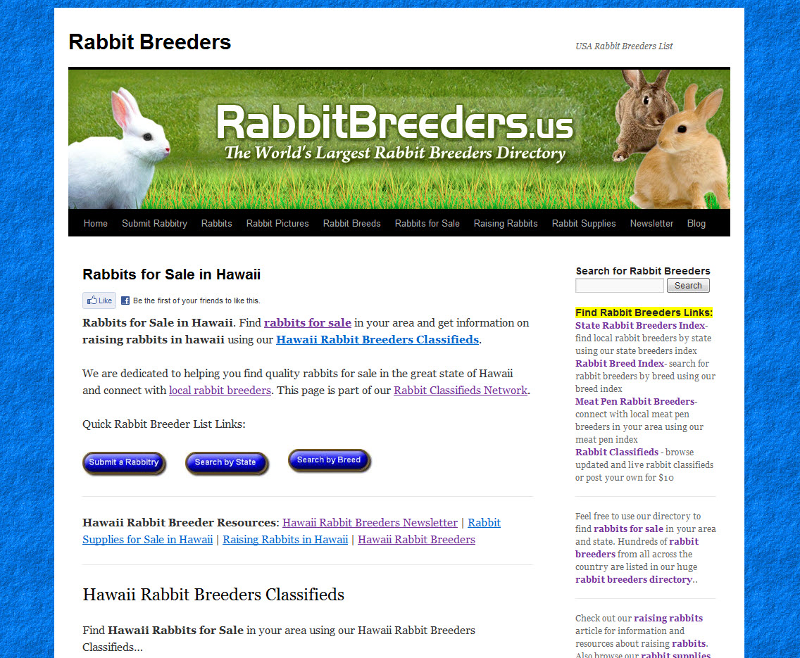 Hawaii Rabbit Breeders