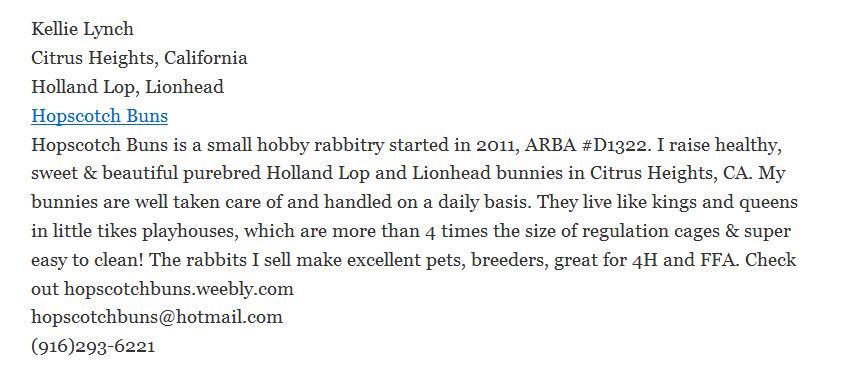 Hopscotch Buns Rabbitry
