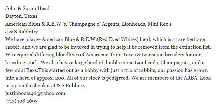 J & S Rabbitry