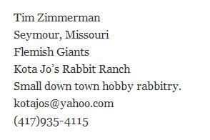 Kota Jo's Rabbit Ranch