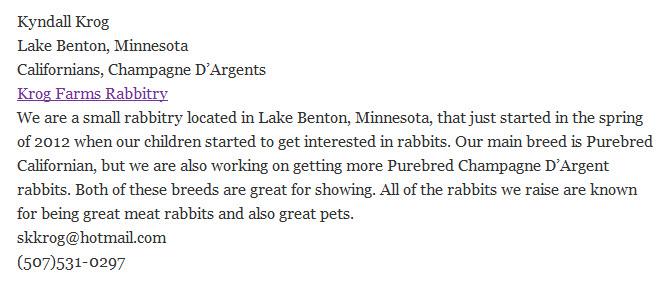 Krog Farms Rabbitry