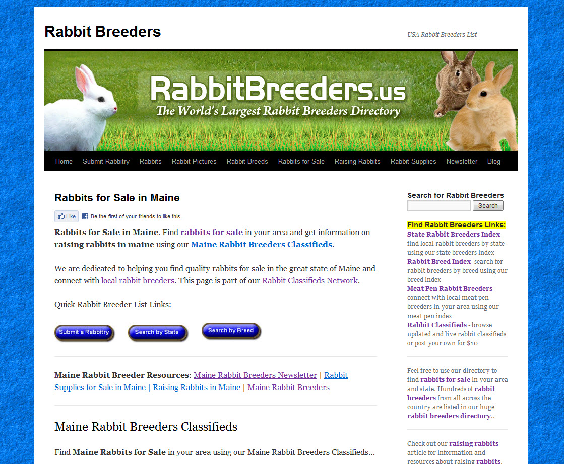 Maine Rabbit Breeders