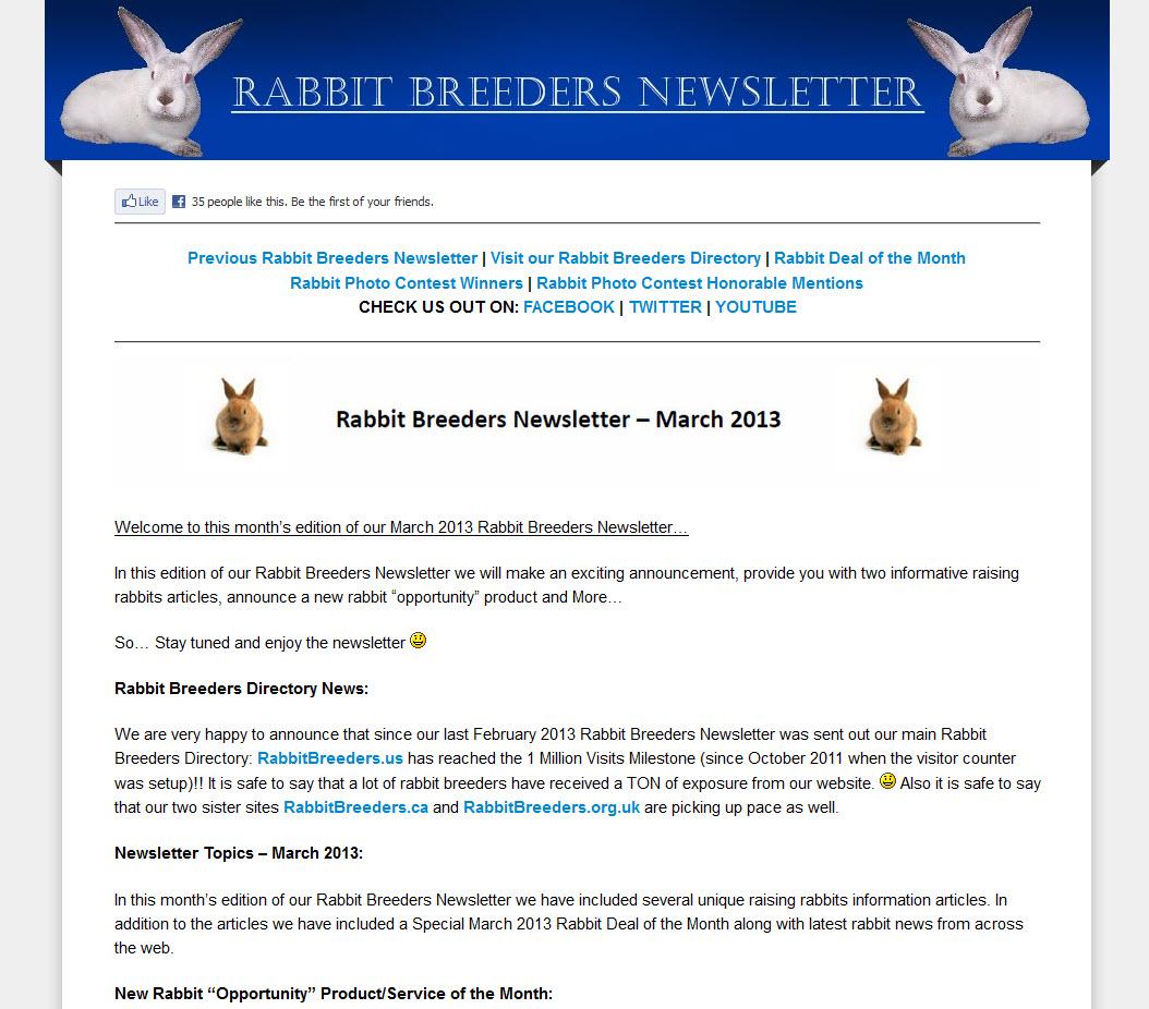 Rabbit Newsletter