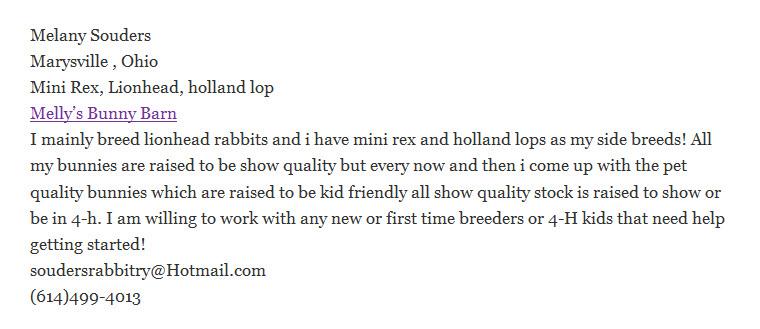 Melly's Bunny Barn Rabbitry