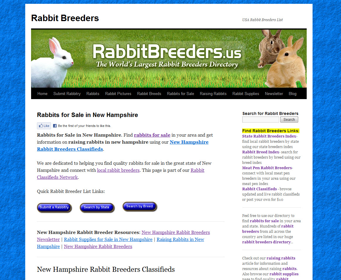 New Hampshire Rabbit Breeders