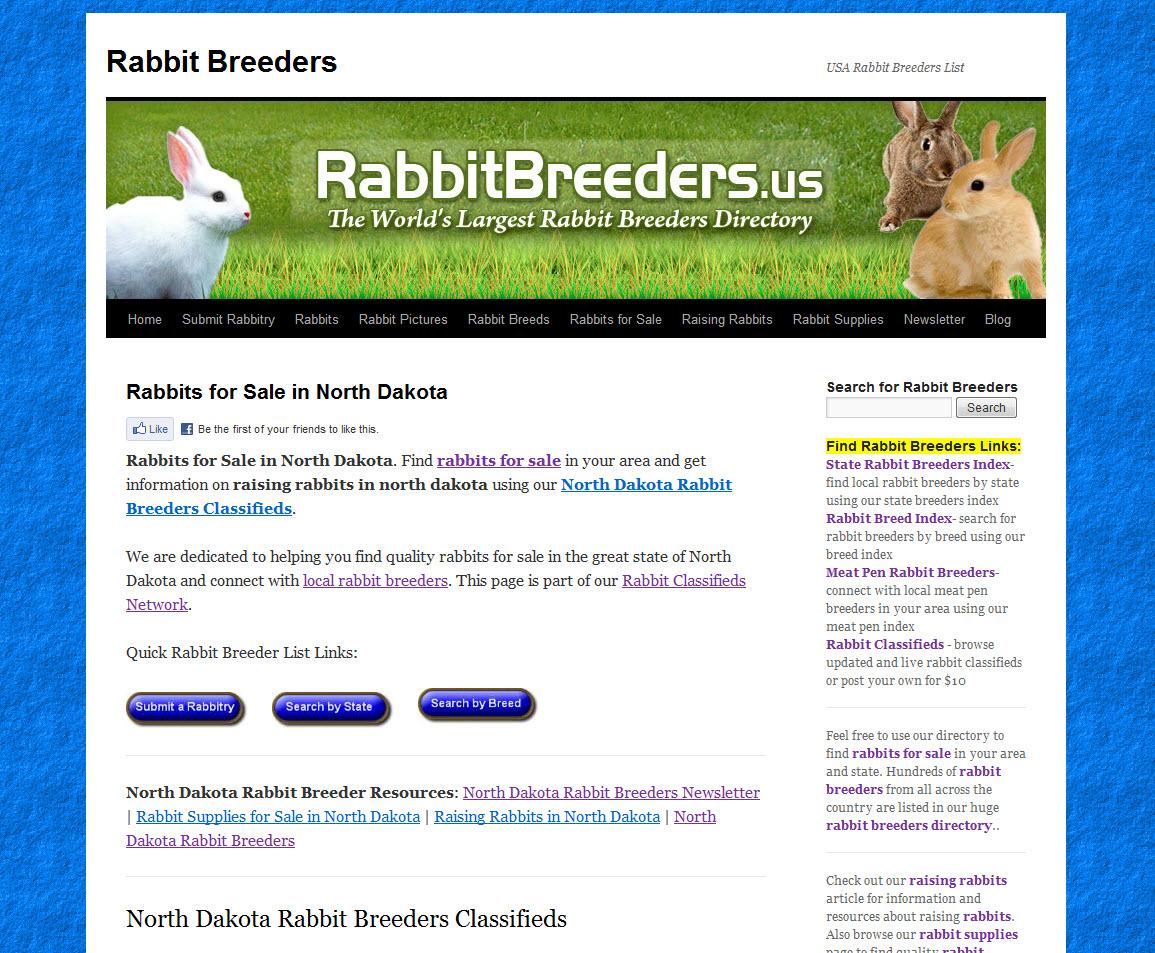 North Dakota Rabbit Breeders
