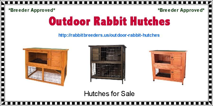 Outdoor Rabbit Hutches | USA Rabbit Breeders