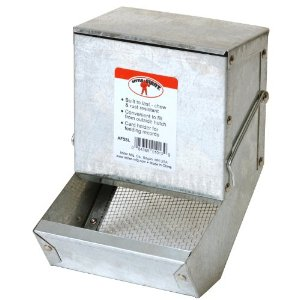 Galvanized Rabbit Feeder