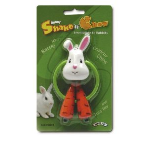 Rabbit Shake N Chew Toy