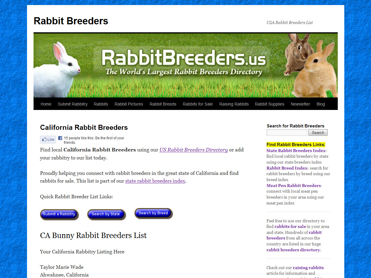 Rabbits for Sale in California