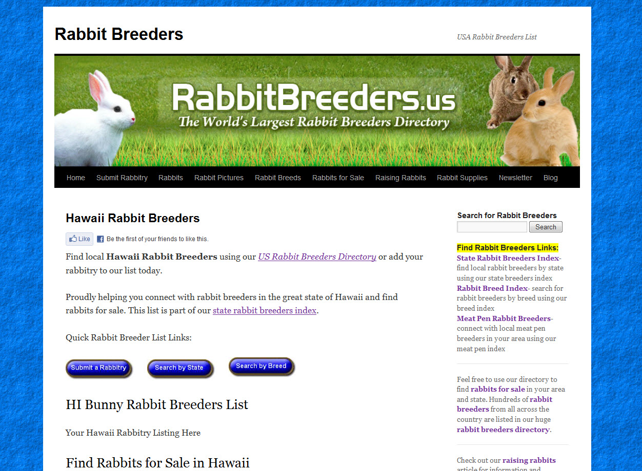 Rabbits for Sale in Hawaii