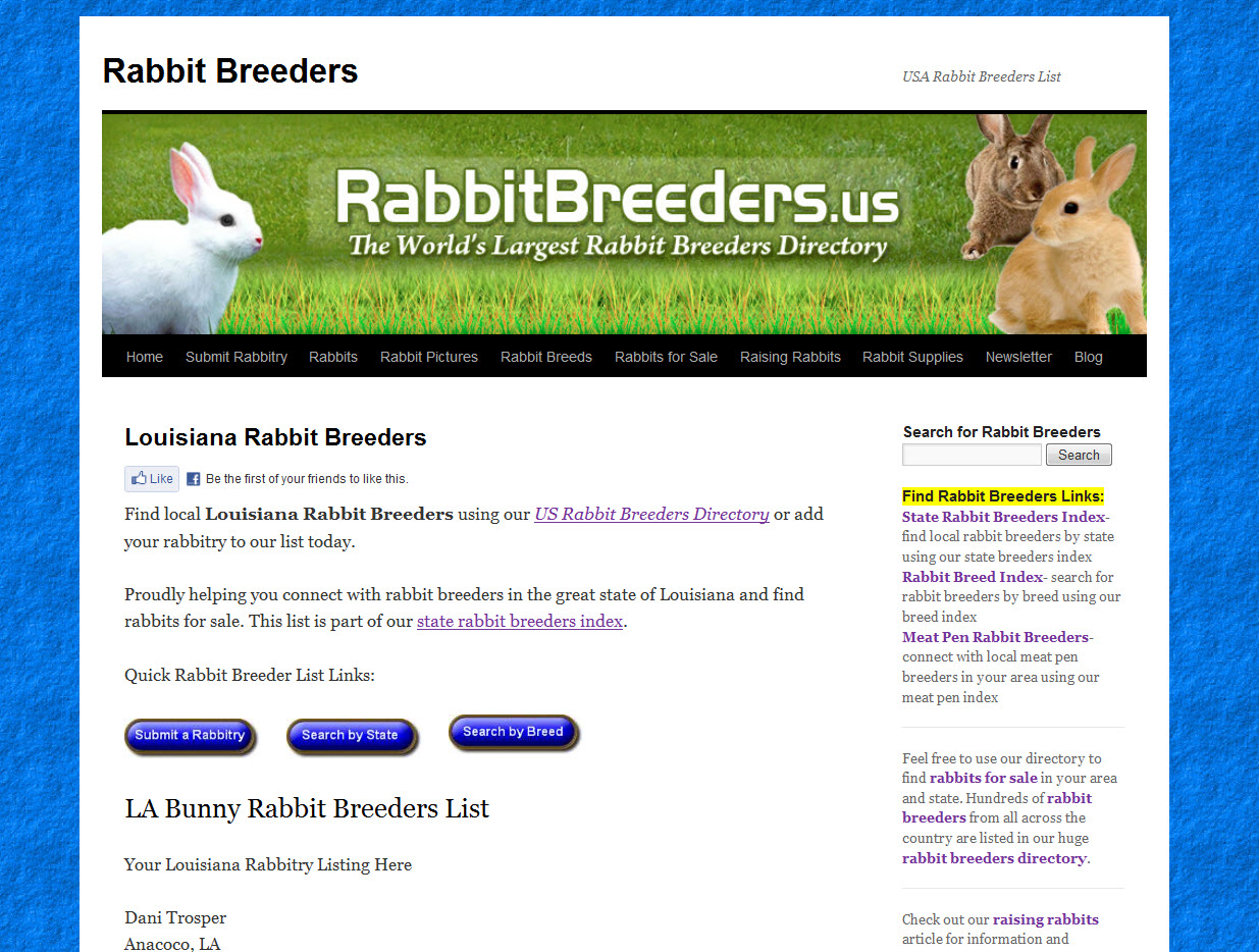 Rabbits for Sale in Louisiana