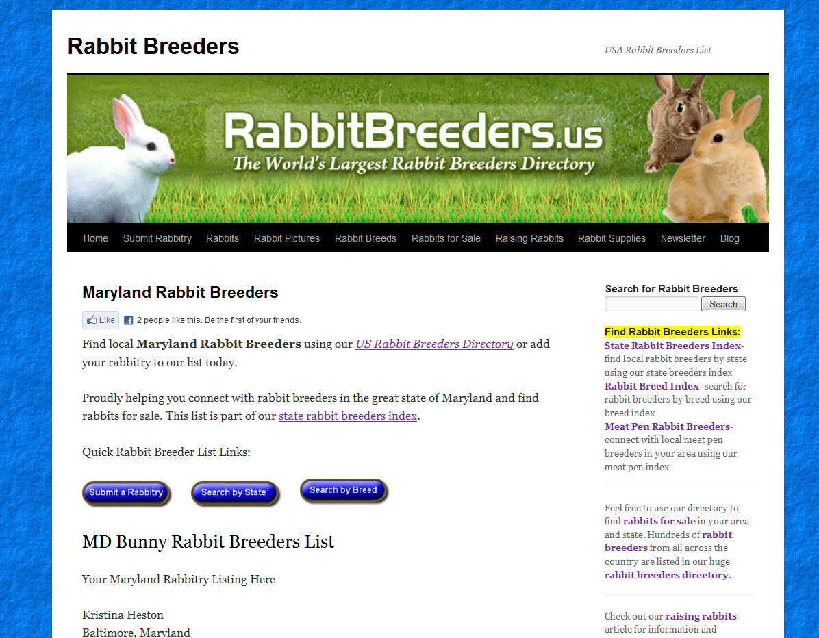Rabbits for Sale in Maryland