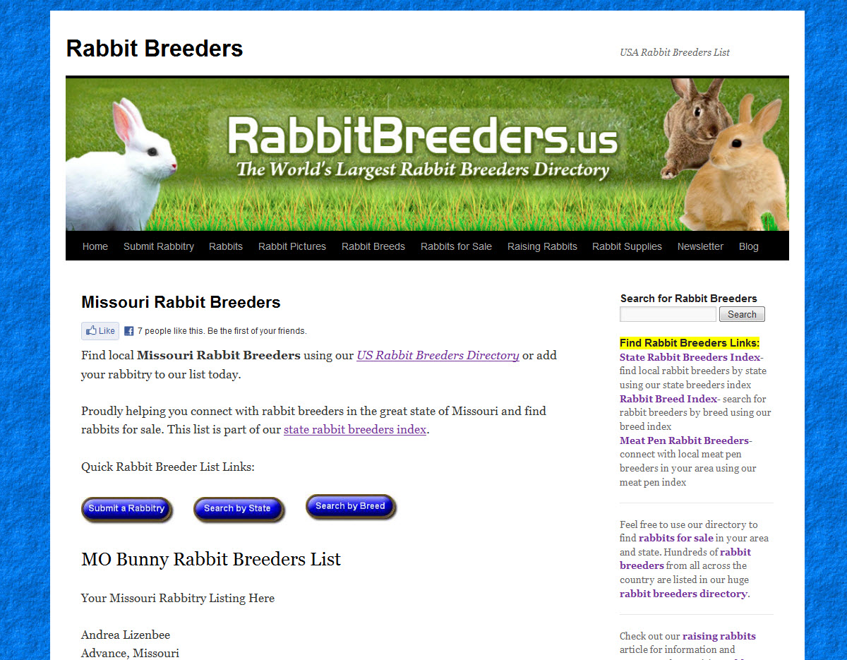 Rabbits for Sale in Missouri