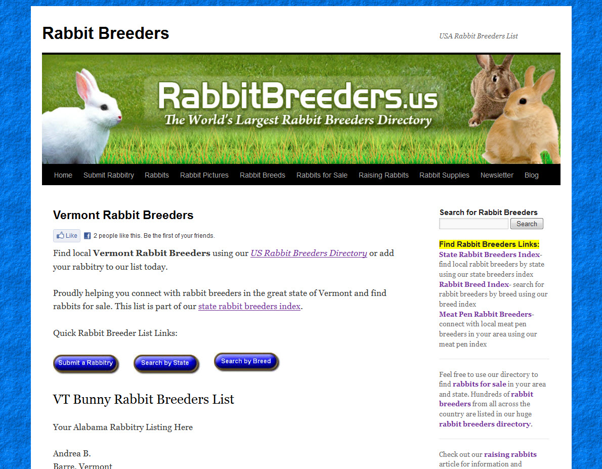 Rabbits for Sale in Vermont