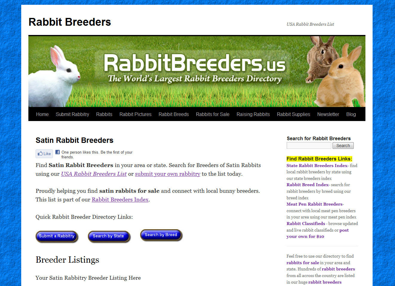 Satin Rabbit Breeders