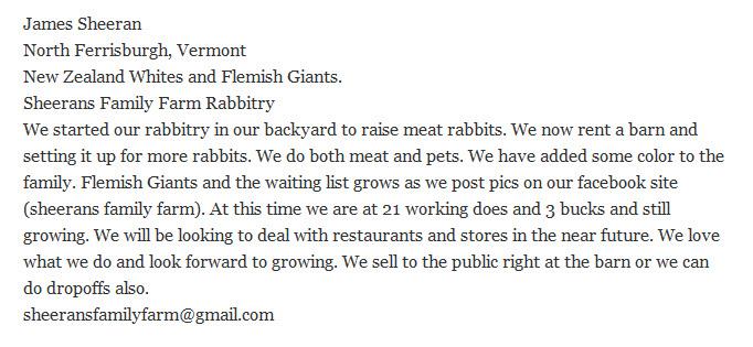 Sheerans Family Farm Rabbitry