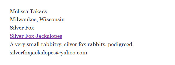 Silver Fox Jackalopes Rabbitry
