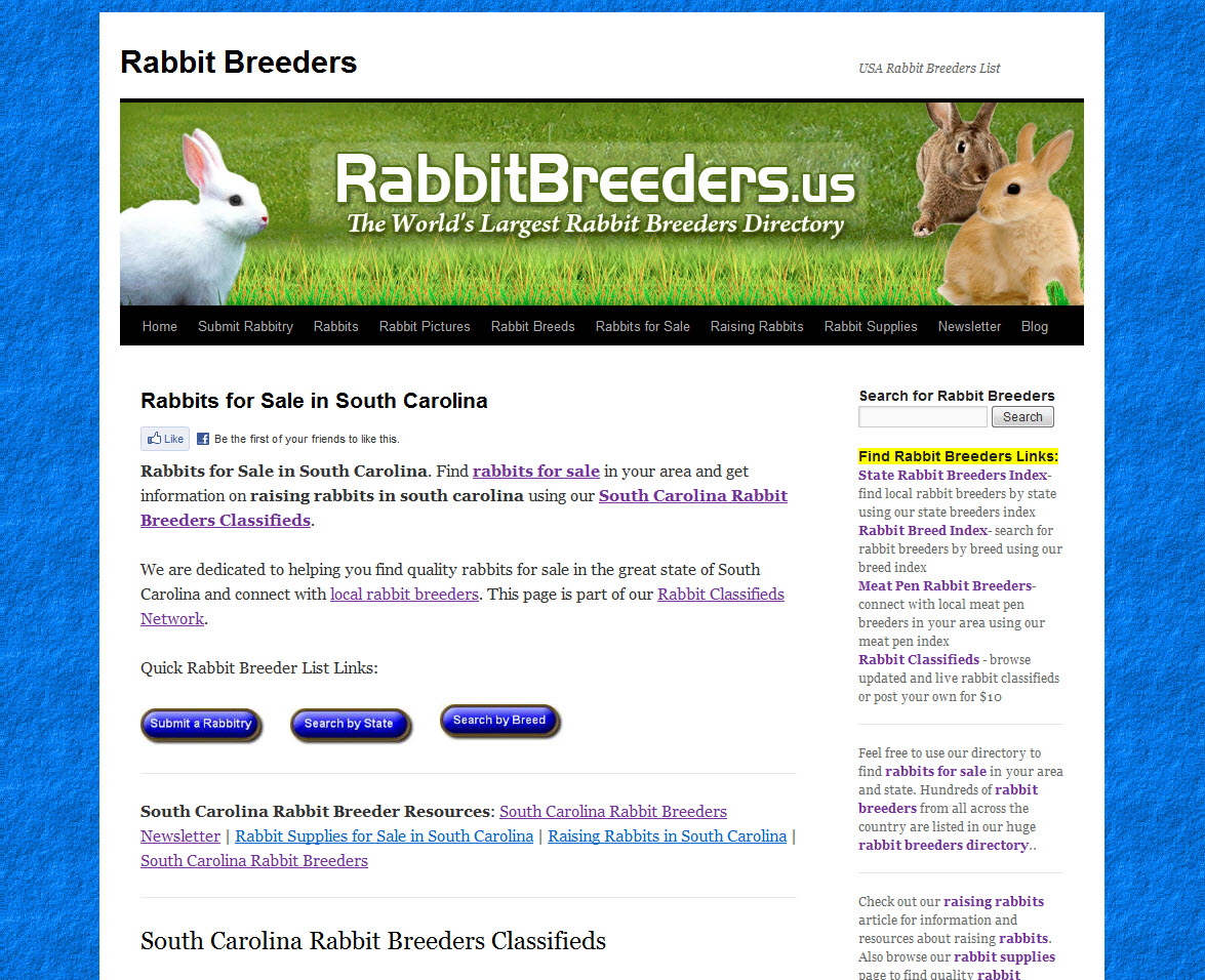 South Carolina Rabbit Breeders