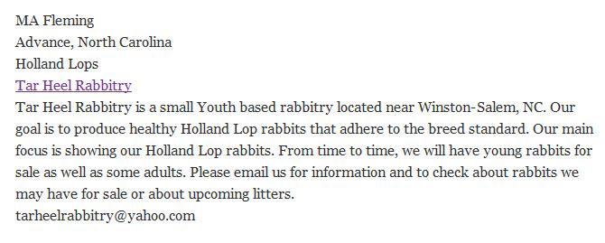 Tar Heel Rabbitry