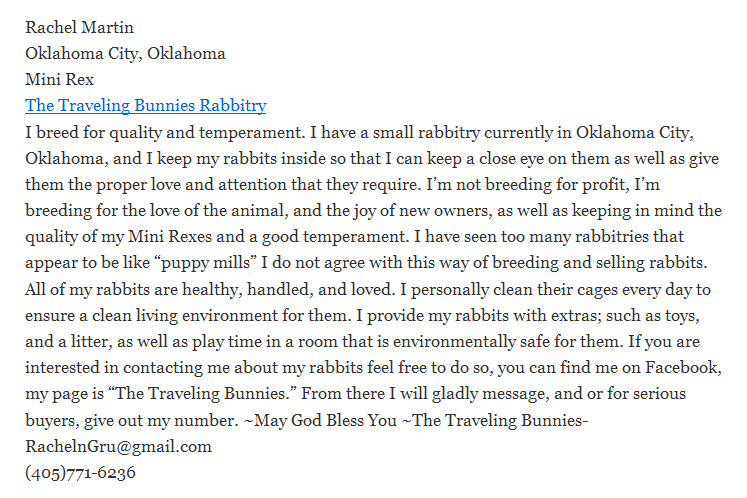 The Traveling Bunnies Rabbitry