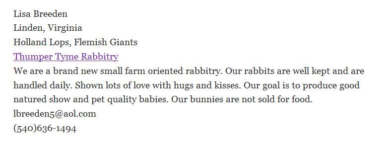 Thumper Tyme Rabbitry