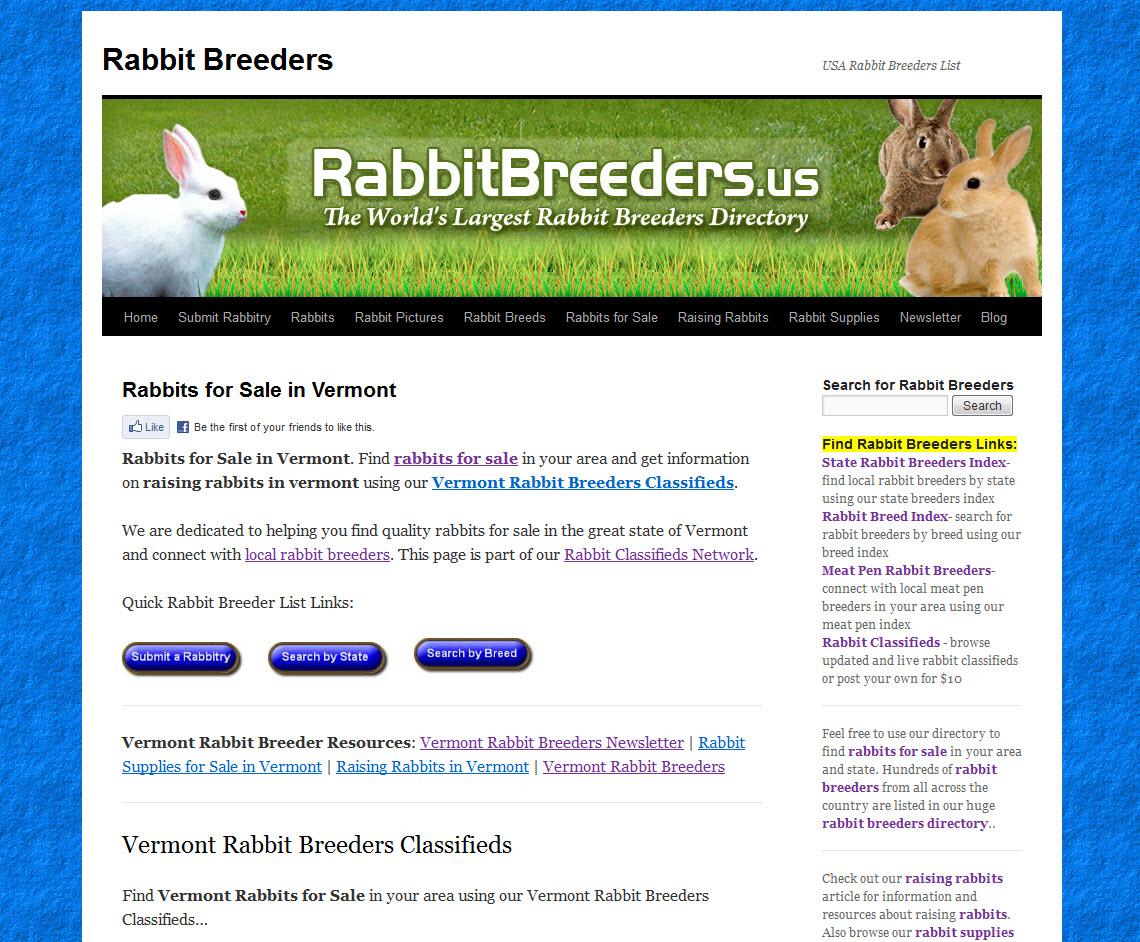 Vermont Rabbit Breeders