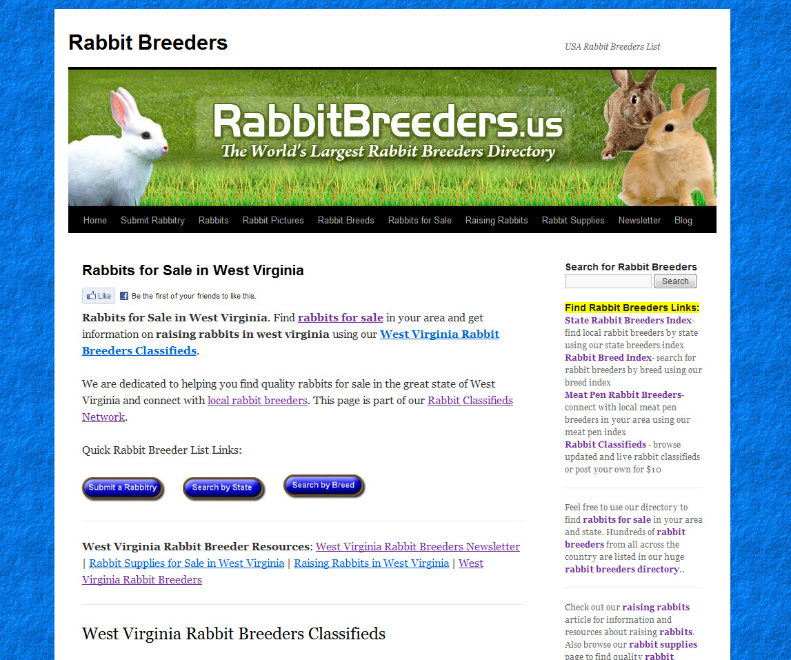 West Virginia Rabbit Breeders