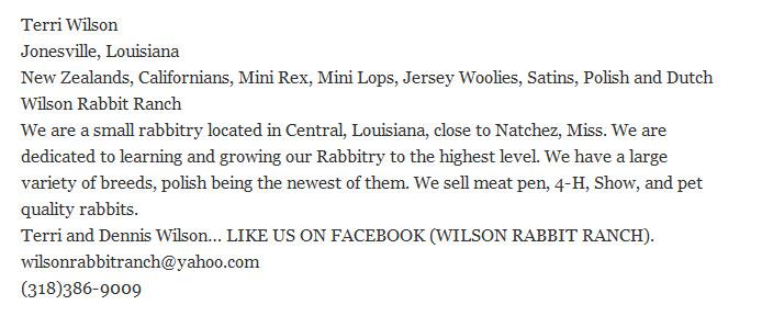 Wilson Rabbit Ranch