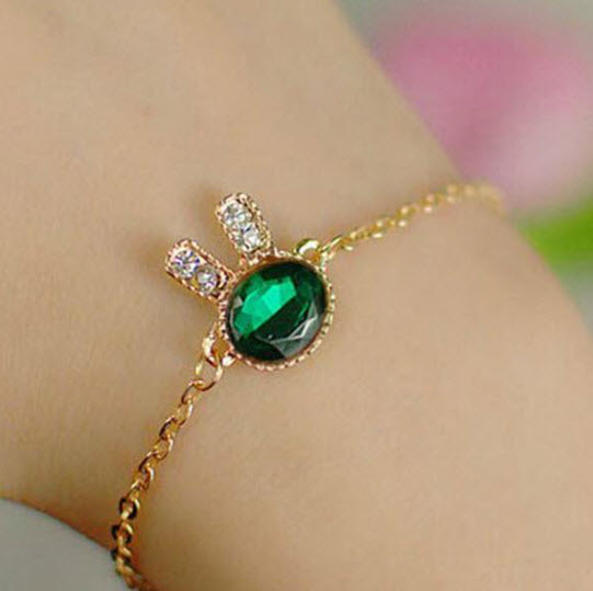 Charming Rhinestone Bunny Rabbit Bracelet
