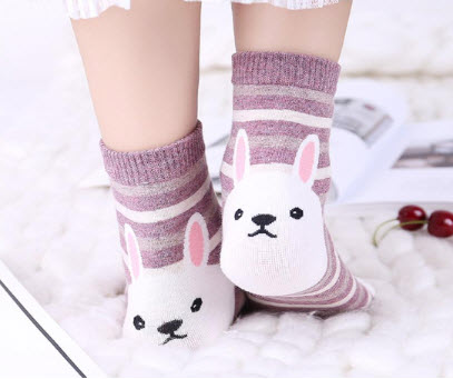 3D Design Rabbit Socks