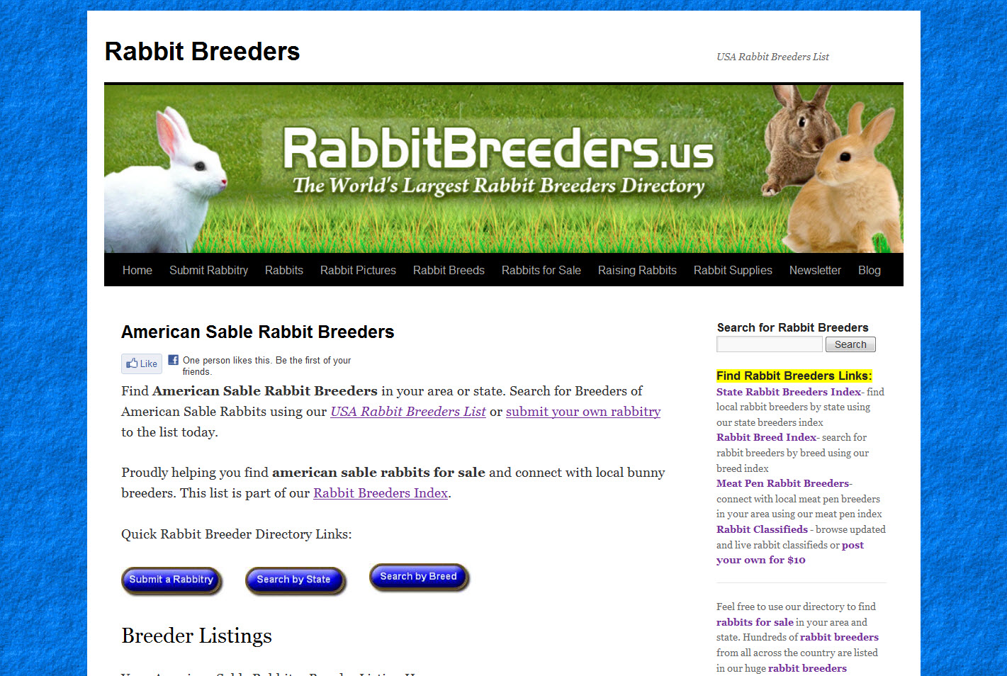 American Sable Rabbit Breeders
