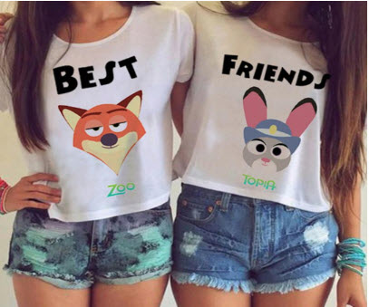 Best Friend Zootopia Themed T Shirts