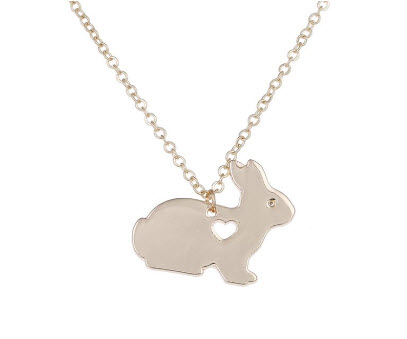 Bunny with Heart Necklace