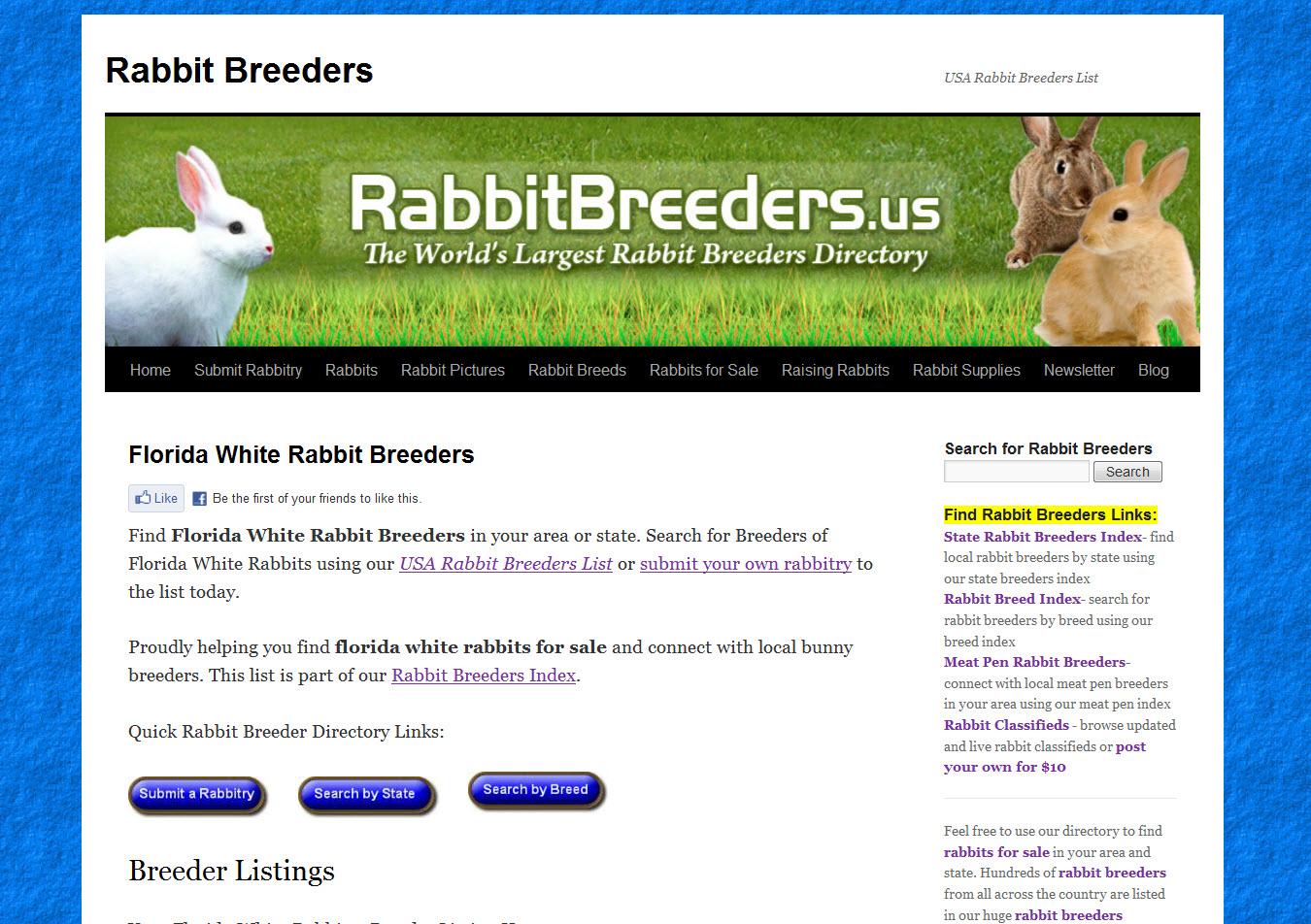 Florida White Rabbit Breeders