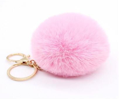 Fluffy Pompom Bunny Keyring